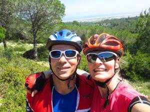 Mountainbiking in Frankreich: Markus Frommlet und Ute Jansen