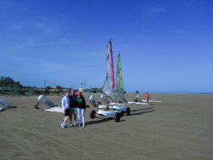 Strandsegeln in Frankreich