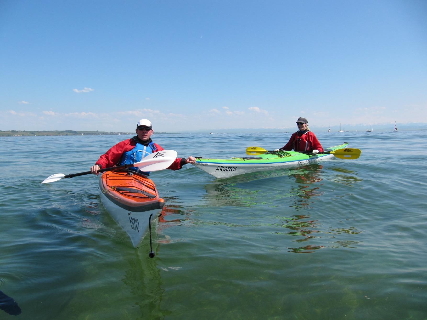 Kajakkurs Bodensee Konstanz beim Paddelprofi