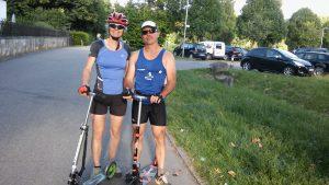 Cityroller auf dem Radweg Weil-der-Stadt