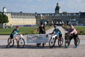Start mit Draisinen erste Umrundung Baden-Württemberg