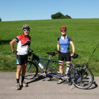 Letzte Tandemfahrt vom Stat zur ersten Umrundung Baden-Württembergs mit Muskelkraft