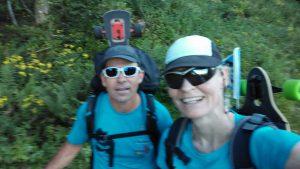 Ute Jansen und Markus Frommlet wandern mit Longboards bei der ersten Umrundung Baden-Württembergs