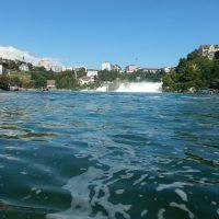 Rheinfall vom Kajak aus bei der ersten Umrundung von Baden-Württemberg