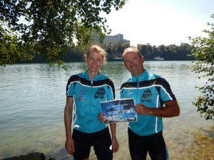 Ute Jansen und Markus Frommlet bei der ersten Umrundung Baden-Württembergs