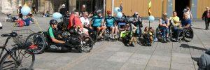 Im Rollstuhl durch Ulm mit Rollstuhlsportlern des TSG Söflingen