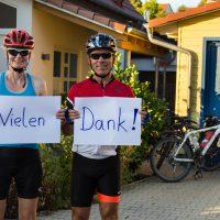Ute Jansen und Markus Frommlet danken den Unterstützern