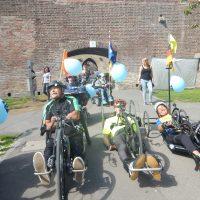 Rollstuhlfahrt durch Ulm