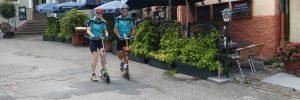 Mit Cityrollern von NEckargemünd nach Eberbach