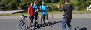 SWR-Aufnahmen beim Cross-Skating in Freudenberg