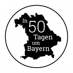 Erste Umrundung Bayern - Logo - schwarz-weiss